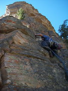 Rock Climbing Photo: One of the first pitches on the limestone/quartzit...