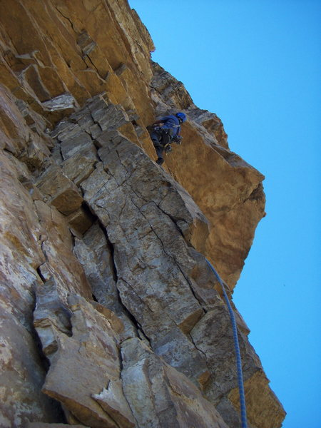Rock Climbing Photo: The crux pitch of The International, Glenwood Cany...