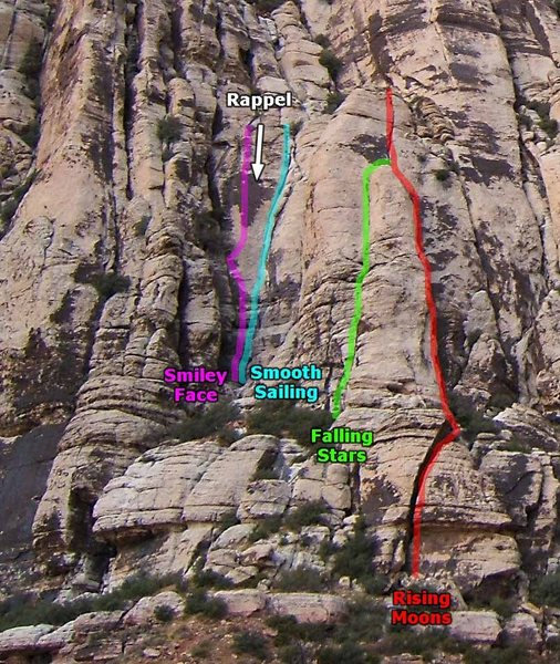 Rock Climbing Photo: The routes at the lower left corner of the the Fir...