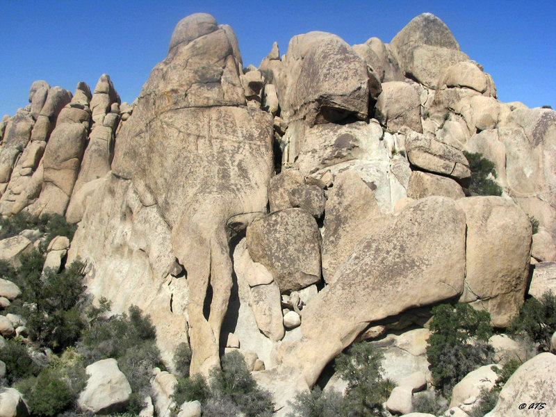 Rock Climbing Photo: Elephant Arches from the Inauguron
