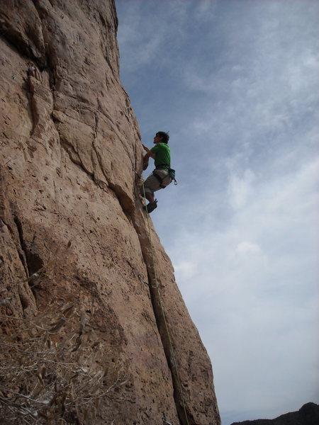 Rock Climbing Photo: starting up Hinzi