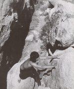Rock Climbing Photo: Keith Richards bouldering in the Ryan CG area (cir...