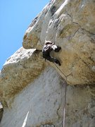 Rock Climbing Photo: Onsighting wind and rattlesnakes 5.12a.