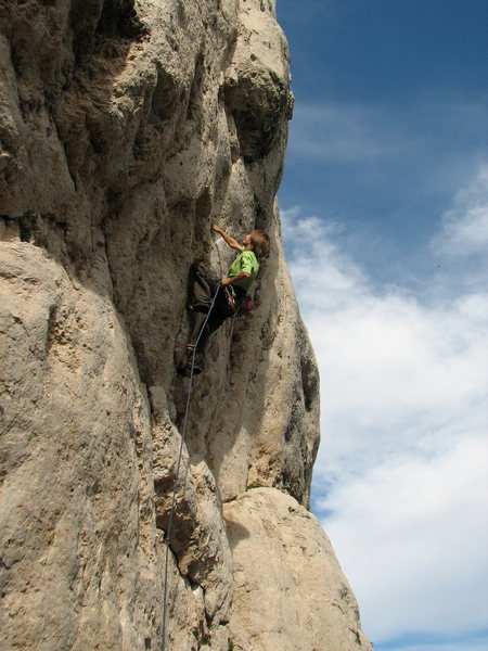Rock Climbing Photo: Onsighting Ruby Shooter 5.12b. One of the best rou...