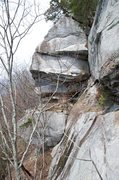 Rock Climbing Photo: Part of the Patriot Wall and the good looking rout...