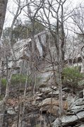 Rock Climbing Photo: A section of Patriot Wall seen through the trees f...