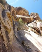 Rock Climbing Photo: The crux overhang