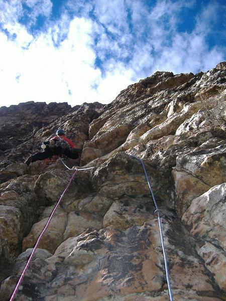 Pitch 3 on Mudflap Girl, Glenwood Canyon.
