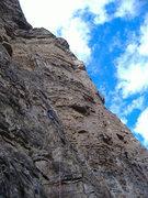 Rock Climbing Photo: Pitch 5 on Mudflap Girl, Glenwood Canyon.