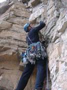 Rock Climbing Photo: The final pitch of Mudflap Girl, Glenwood Canyon.