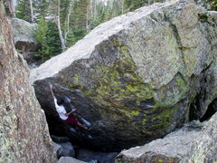 Rock Climbing Photo: Bouldering in Lower Chaos Canyon, photo: Bob Horan...