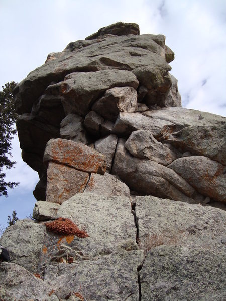 Rock Climbing Photo: Looking up from the base of Lazy Squaw.  This is w...