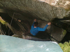 Rock Climbing Photo: Marc-Andre Leclerc working his way out of the Mine...
