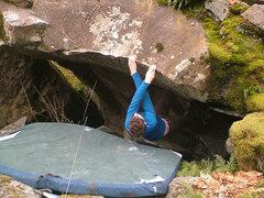 Rock Climbing Photo: The thin lip traverse