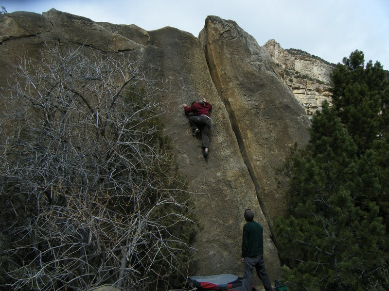 Speed.  The best line on the Buoux Boulder.