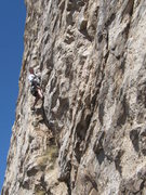 Rock Climbing Photo: Moving up to the belay stance after the traverse o...