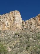 Rock Climbing Photo: The route starts on the left side of the pillar, t...