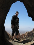 Rock Climbing Photo: Be sure to check out the Hootgoat Window at the to...