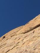 Rock Climbing Photo: Stu leading pitch 5
