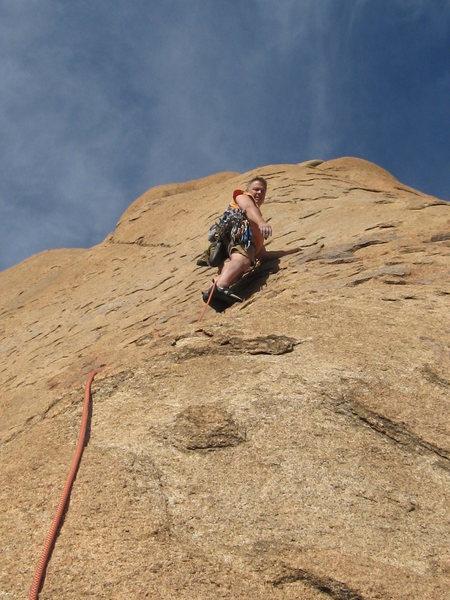 Very cool slab climbing