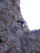 Rock Climbing Photo: Moving over to the 1st stance.