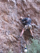 Rock Climbing Photo: Just off the ground, and passing the only piece I ...