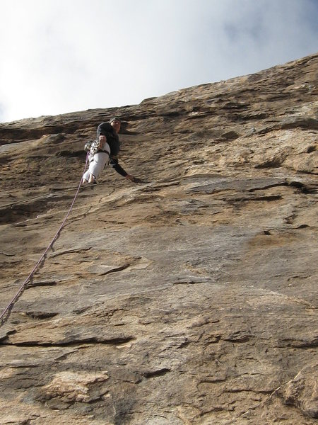 Rock Climbing Photo: Starting up the first pitch