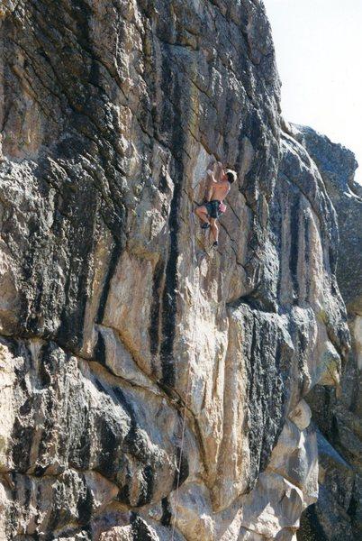Rock Climbing Photo: G. Schuler on Bandu 5.12.