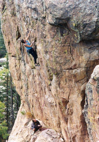Rock Climbing Photo: K. Mclaughlin and Glenn Schuler on the Wild Thing,...