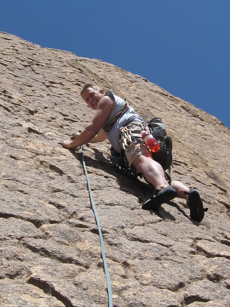 Rock Climbing Photo: Cool skin on pitch 3