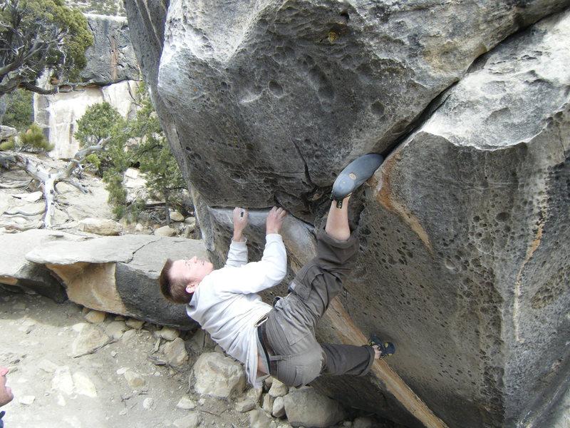 Rock Climbing Photo: Ian demonstrating the painful toe-cam-drop-knee be...