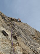 Rock Climbing Photo: There is some good climbing on this route!