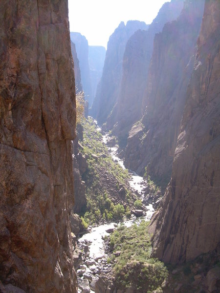 Looking up canyon from Russian Arete.