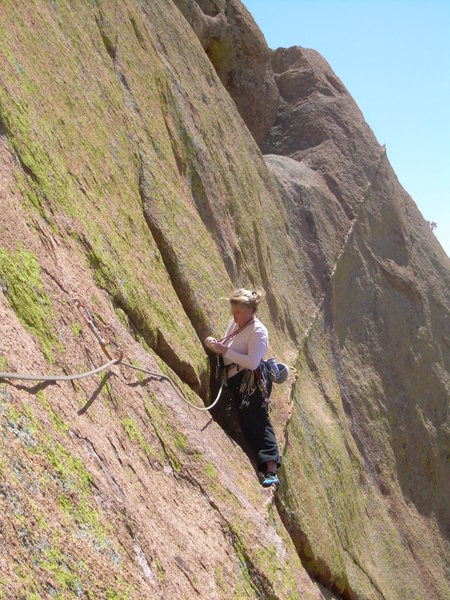 "Rock Climbing Photo: Kimberly ""on"" the dyke!"