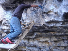 Rock Climbing Photo: Supra taking a day off and doing some boulder main...