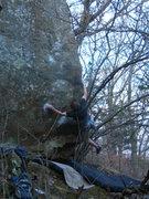 Rock Climbing Photo: Stab!