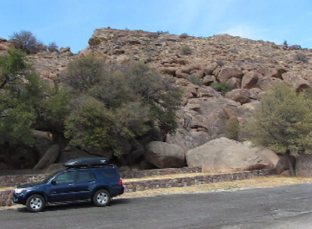 Rock Climbing Photo: Here's a rough picture.  The routes are higher up ...