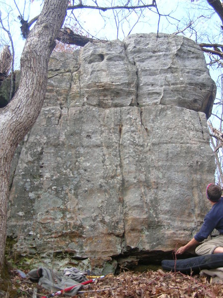 Rock Climbing Photo: crack in the middle