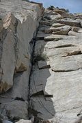 Rock Climbing Photo: Tai Devore FA-ing pitch one.  The top of pitch thr...