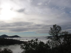 Rock Climbing Photo: This is the view from the back deck. The clouds lo...