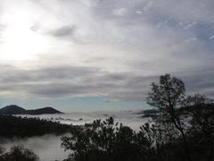 Rock Climbing Photo: cool clouds...