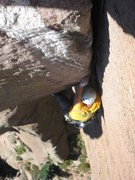 Rock Climbing Photo: Near the top of Wunsch's Dihedral. Photo by Adam S...