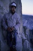 Rock Climbing Photo: Chilly bivy on Half Dome.  Photo by Matt Spohn