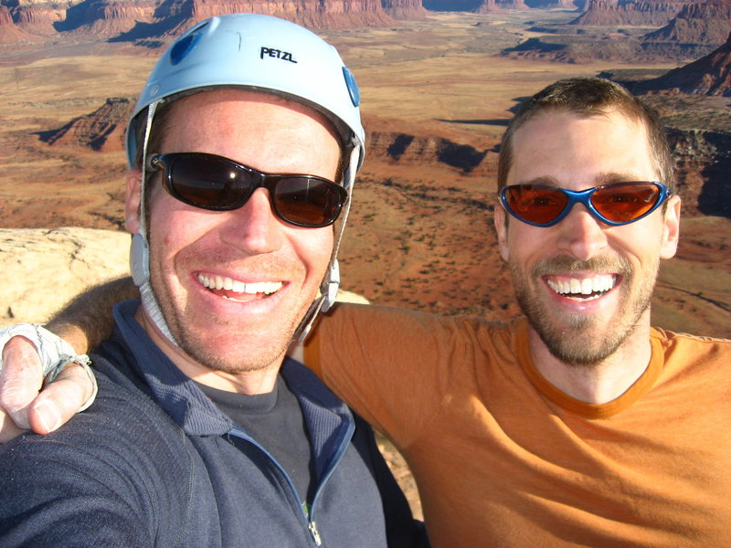 Rock Climbing Photo: Feeling good after topping out on the Lightening B...