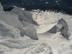 Rock Climbing Photo: View from summit ridge looking (south) down on the...