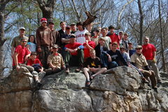 Rock Climbing Photo: March 15th class with troop 757 at HP40.