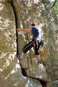 Rock Climbing Photo: LA seconding Slow and Easy 5.7 G