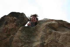 Rock Climbing Photo: bullethole just messing around note the beautiful ...