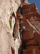 Rock Climbing Photo: Blue line is the original Kor-Ingalls second pitch...