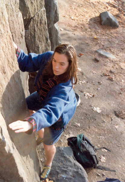 Rock Climbing Photo: Contriving at the Columns (my only face shot climb...